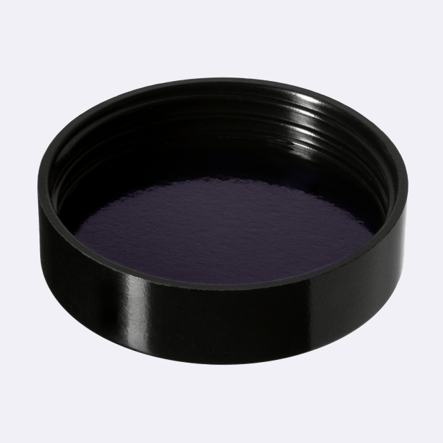 Deckel modern für dose Sirius 30 ml, Schwarz