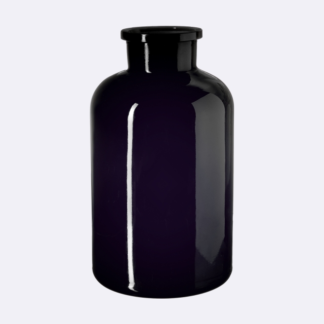 Apothecary jar Libra 2000 ml, grinded glass stopper, Miron