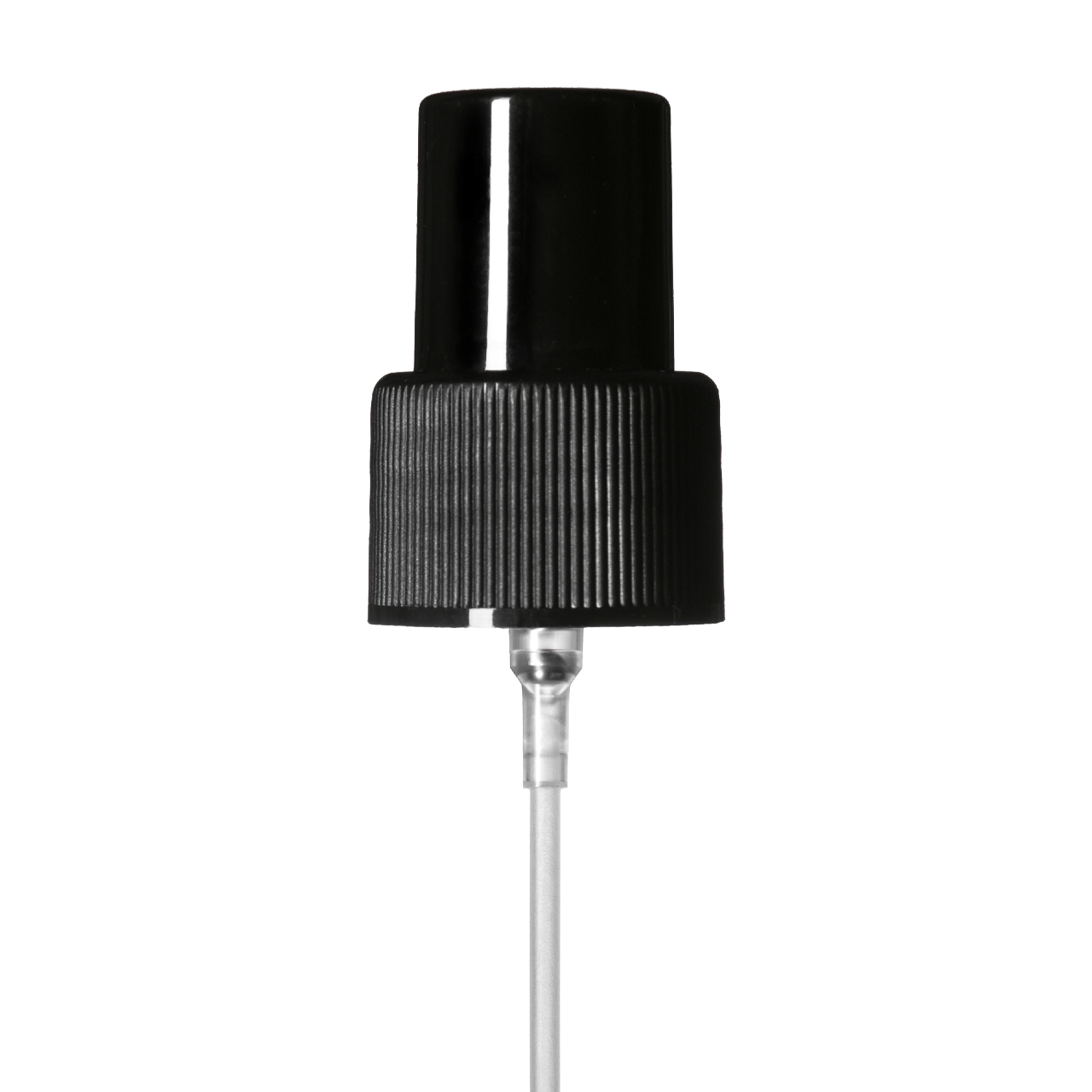 Mist sprayer 24/410, PP, black, ribbed, dose 0.14 ml, with black overcap (for Virgo 200 ml & Orion 200 ml)