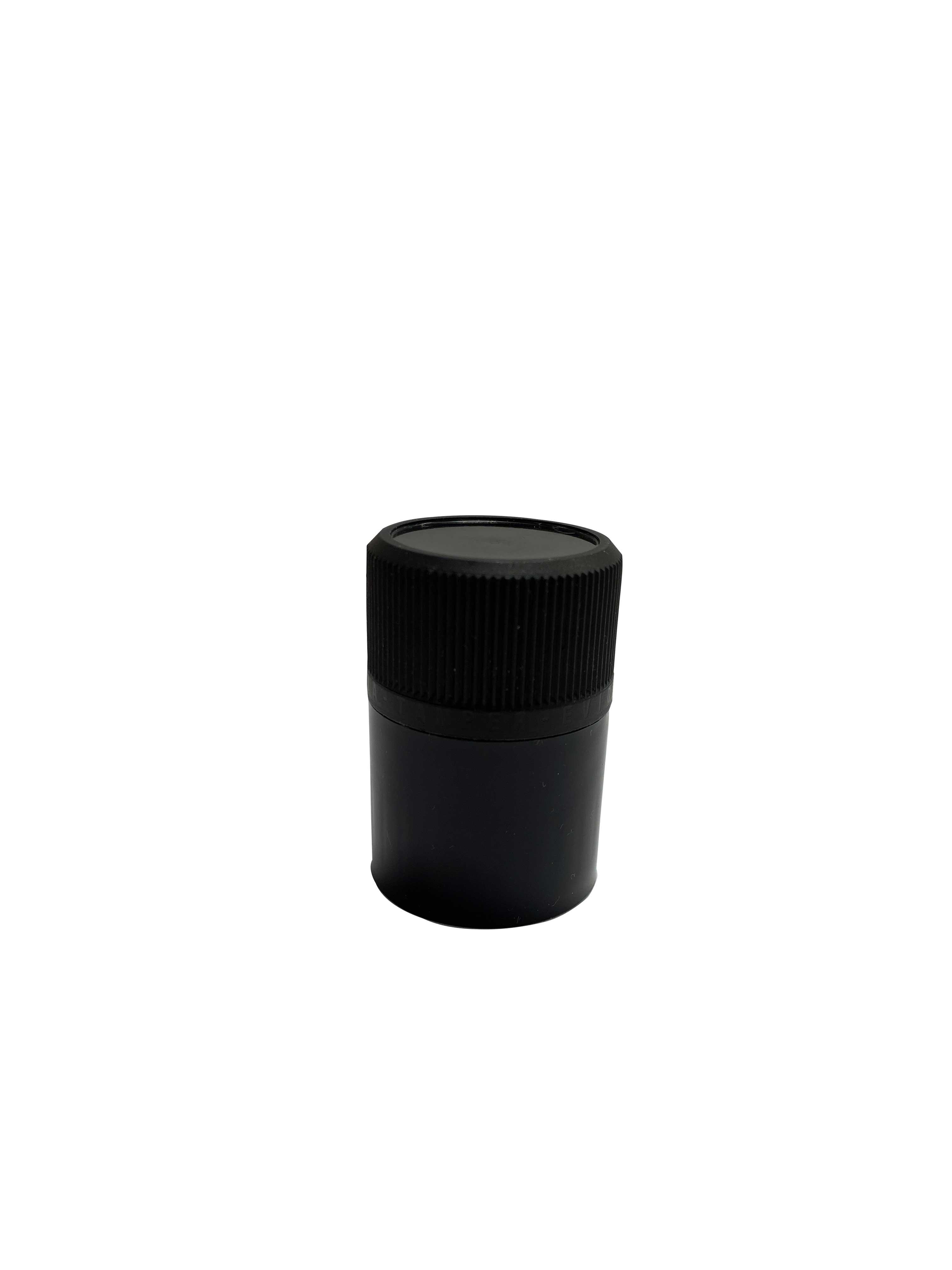 Tamper-evident CPR closure 29.4 mm, PP/PP, black with natural pourer (for spirits)