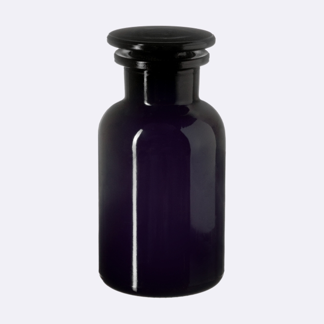 Apothecary jar Libra 100 ml, Miron, grinded glass stopper
