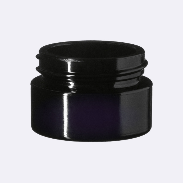 Closure Classic 37 mm, Urea, black, smooth with violet Phan inlay