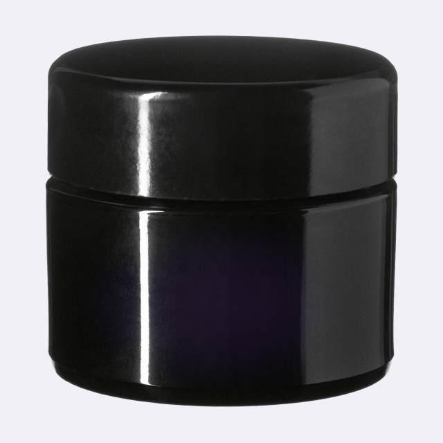 Closure Modern 49 mm, Urea, black, smooth with violet Phan inlay