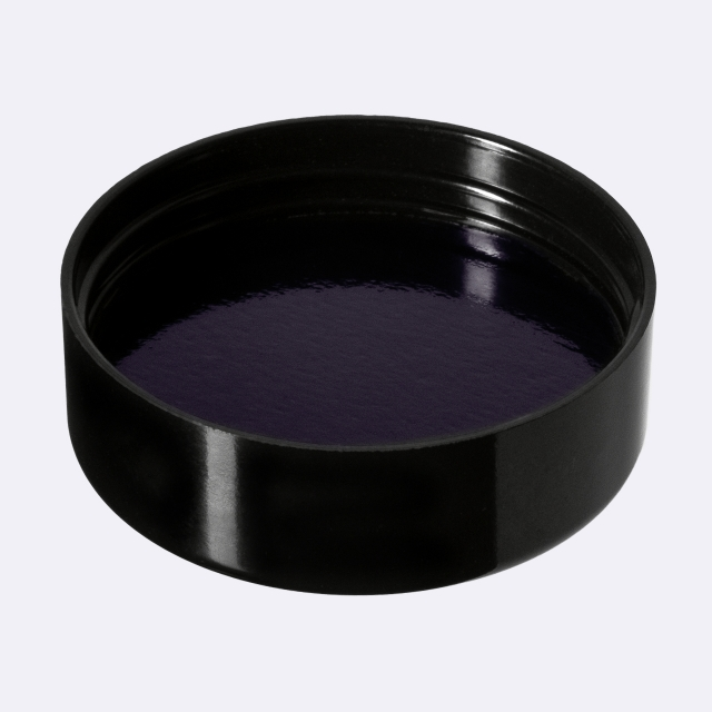 Closure Modern 51 mm, Urea, black, smooth with violet Phan inlay