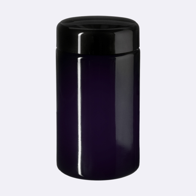 Lid Classic 45/400, SAN, black, glossy finish with violet Phan inlay (for Saturn 50 & 100-96)