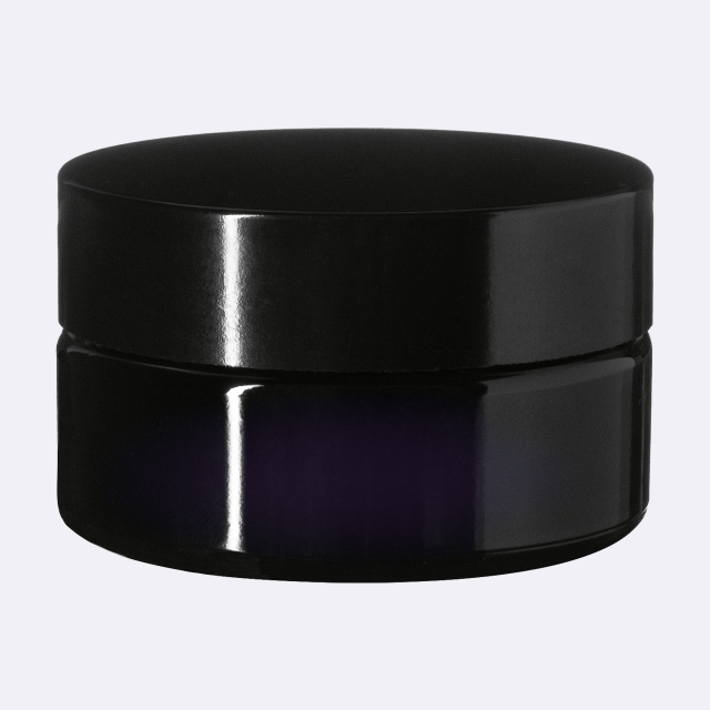 Closure Modern 59 mm, Urea, black, smooth with violet Phan inlay