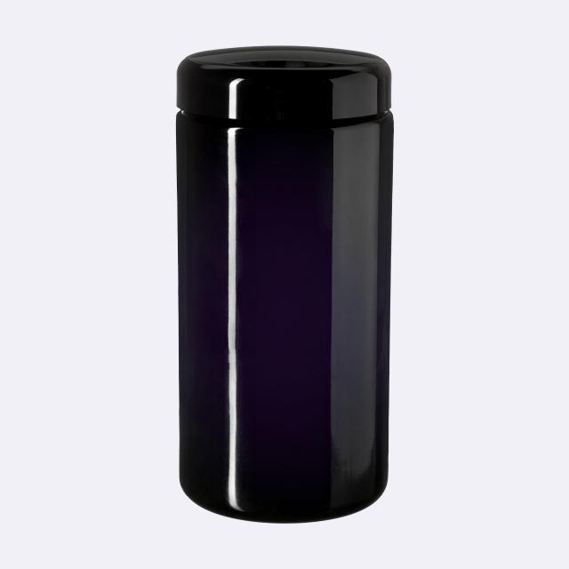 Closure 89/400, SAN, black, smooth with violet Phan inlay