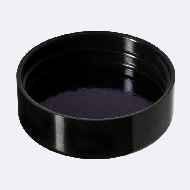 Closure Modern 40 mm, Urea, black, smooth with violet Phan inlay