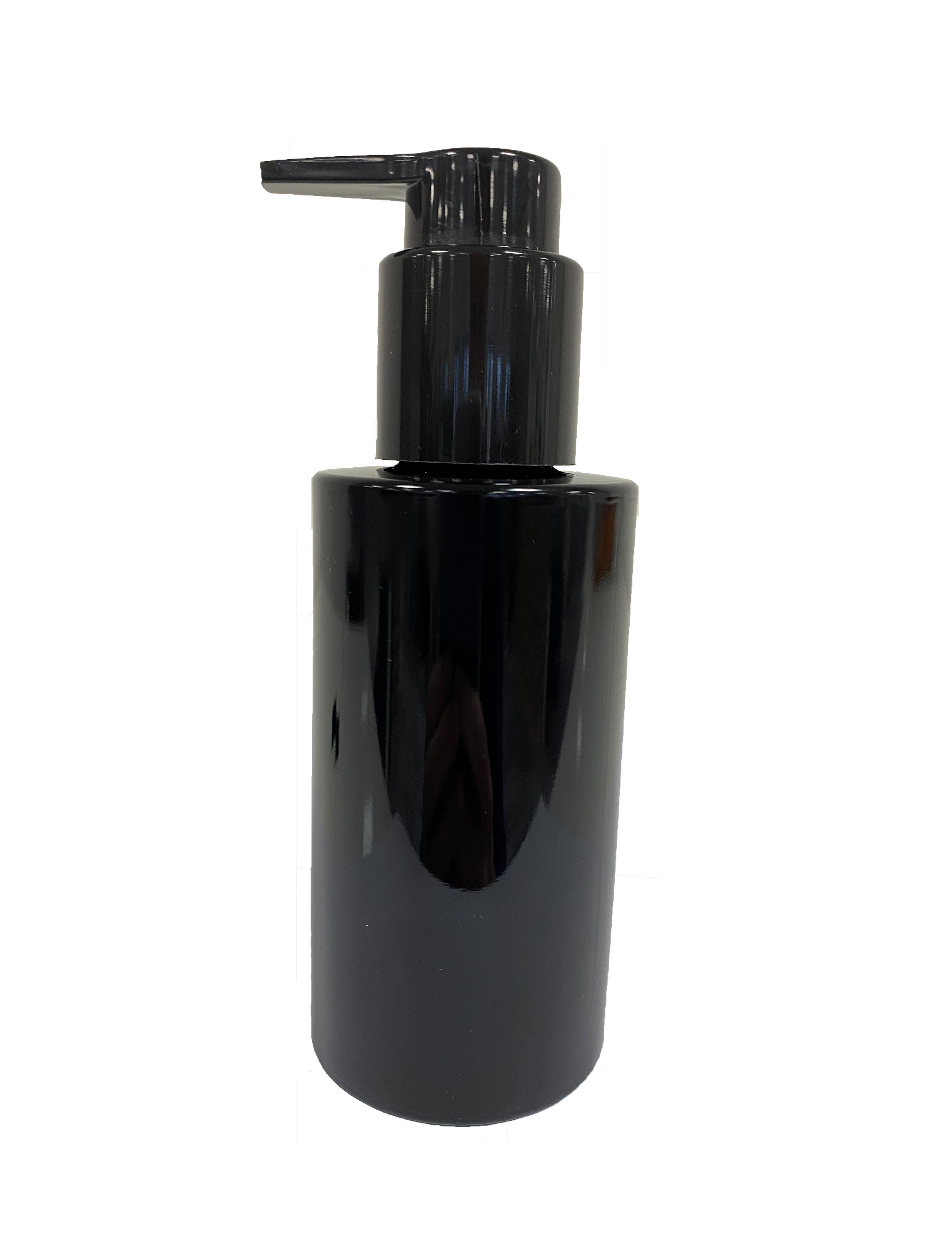 Lotion pump extended nozzle, 24/410, PP, black, smooth, dose 0.50 ml, 2.0mm tri-seal gasket, with security clip