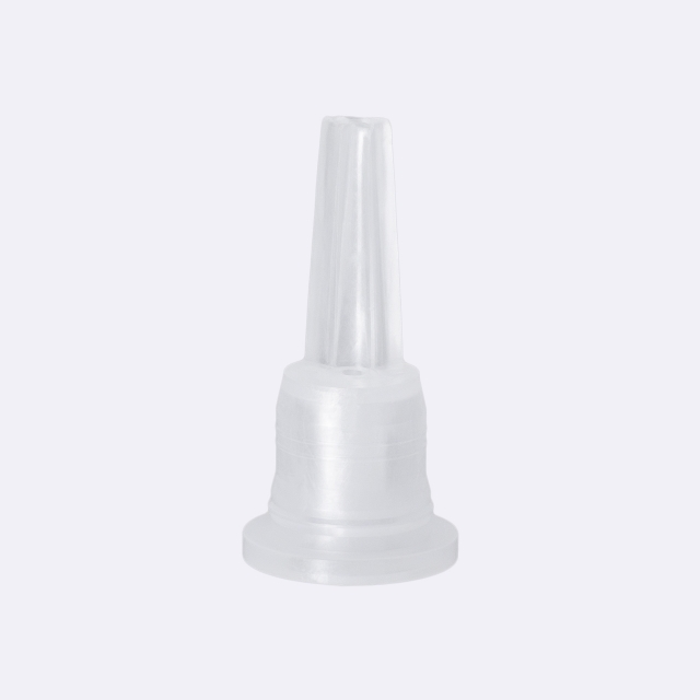 Tamper-evident closure DIN18, series IIID, PP, matt black with natural vertical dropper 2.0 mm, type S-I
