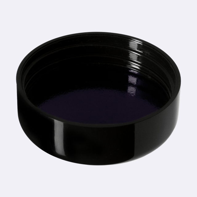 Closure 45/400, SAN, black, smooth with violet Phan inlay