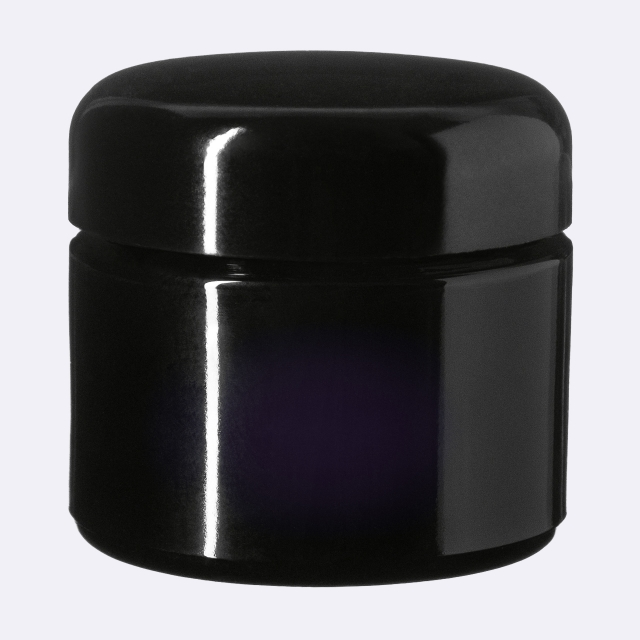 Closure Classic 51 mm, Urea, black, smooth with violet Phan inlay