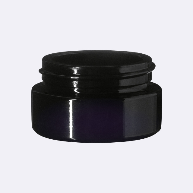 Closure Modern 41 mm, Urea, black, smooth with violet Phan inlay