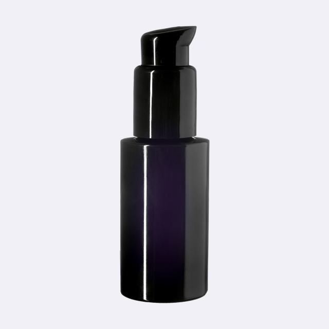 Lotion pump Metropolitan 24/410, PP, black, glossy finish, dose 0.50 ml, with black security clip (for Virgo 50 ml)