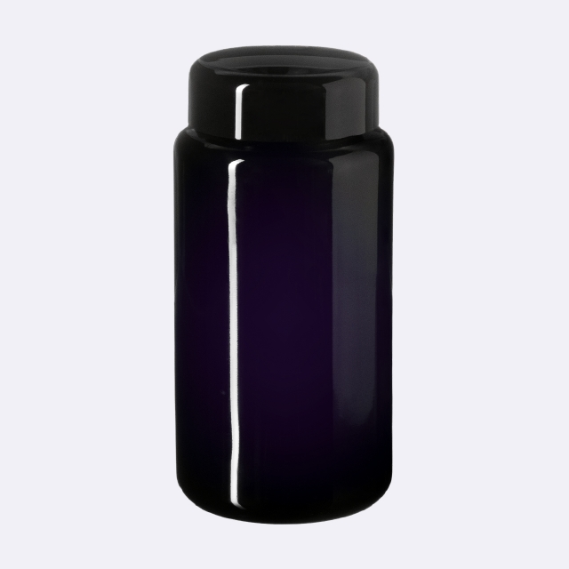 Lid Classic 48/400, SAN, black, glossy finish with violet Phan inlay (for Saturn 100 & Carina 200/300)
