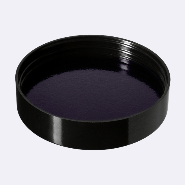Closure Modern 74 mm, PP, black, smooth with violet Phan inlay