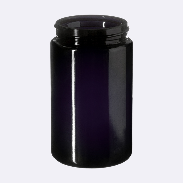 Closure 53/400, SAN, black, smooth with violet Phan inlay