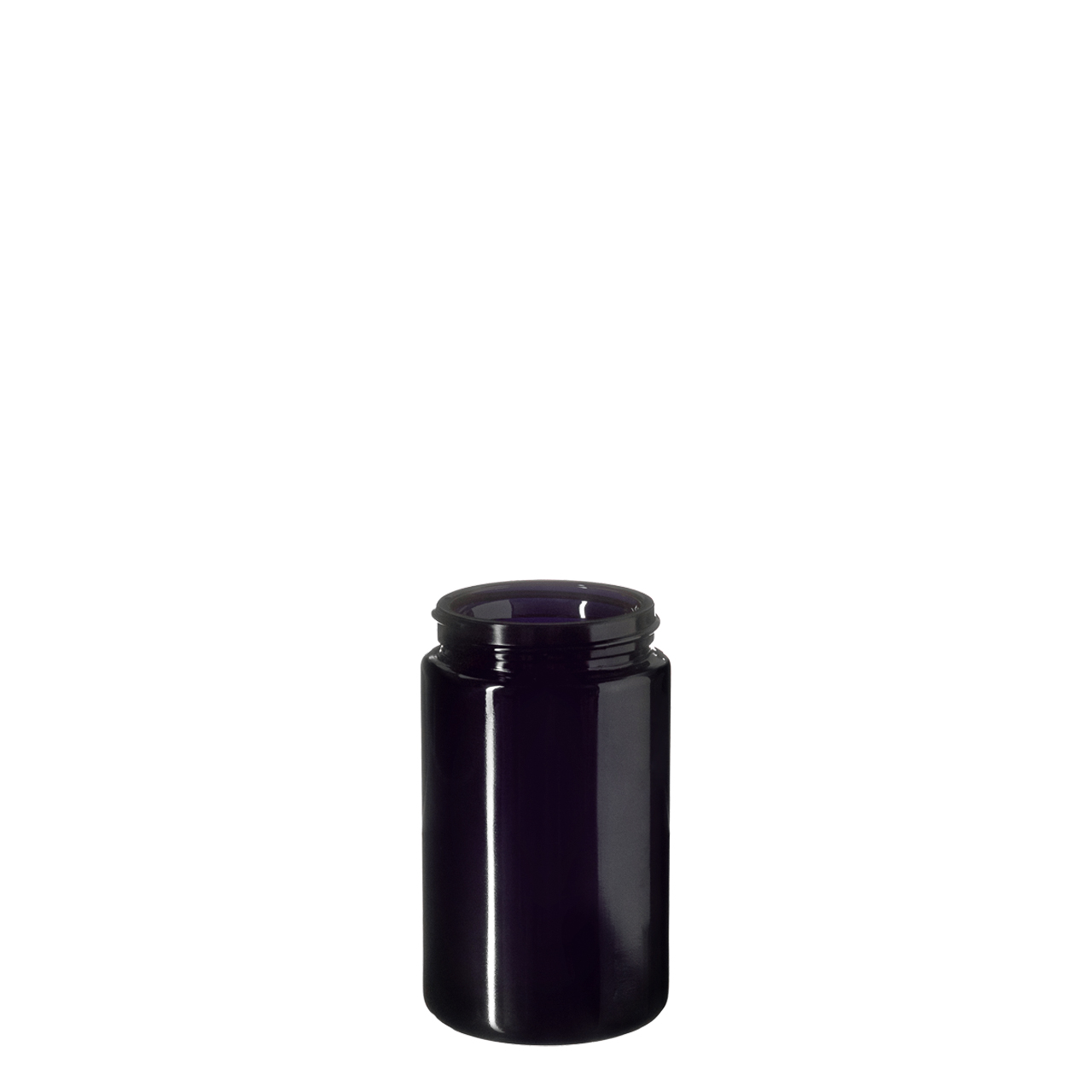 Wide neck jar Saturn 150 ml, Miron, 53/400 thread