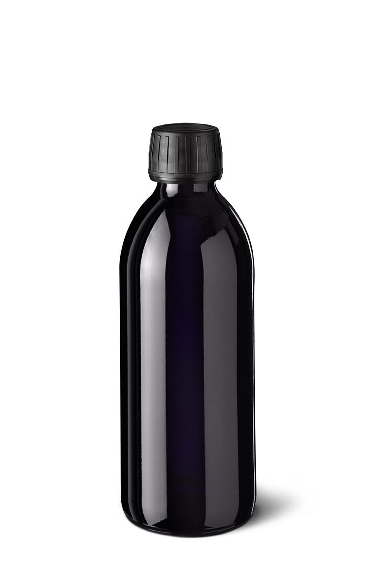 Syrup bottle Aquarius 250 ml, Miron, 28ROPP thread