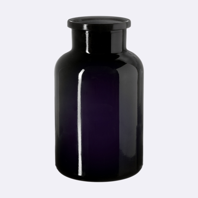 Apothecary jar Libra 1000 ml, Miron, grinded glass stopper