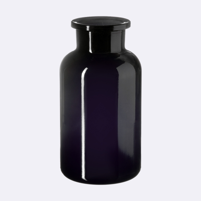 Apothecary jar Libra 500 ml, Miron, grinded glass stopper