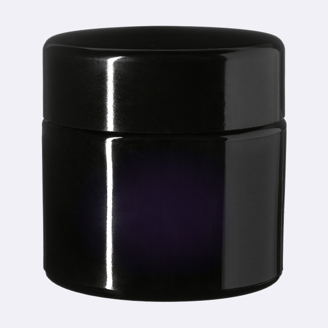 Lid Modern 58 special, Urea, black, semi-glossy finish with violet Phan inlay (for Ceres 100 & Carina 500)